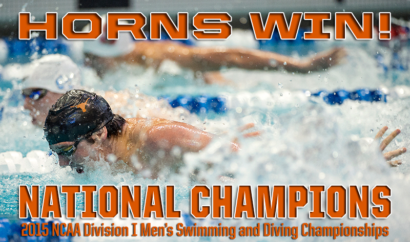Men's Swimming and Diving wins 2015 national championship