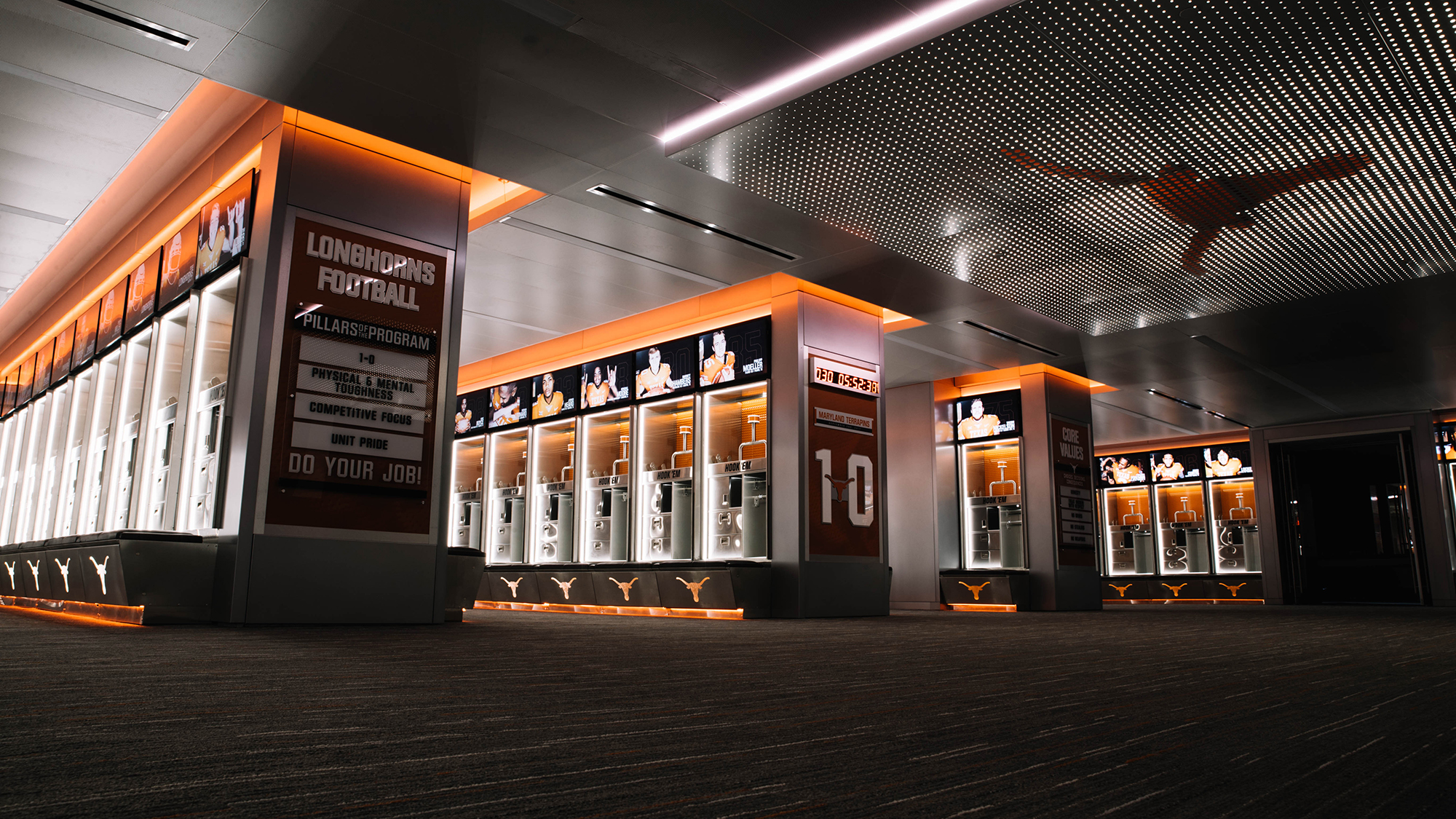 Video Football Locker Room Reveal August 4 2017 Texas Athletics