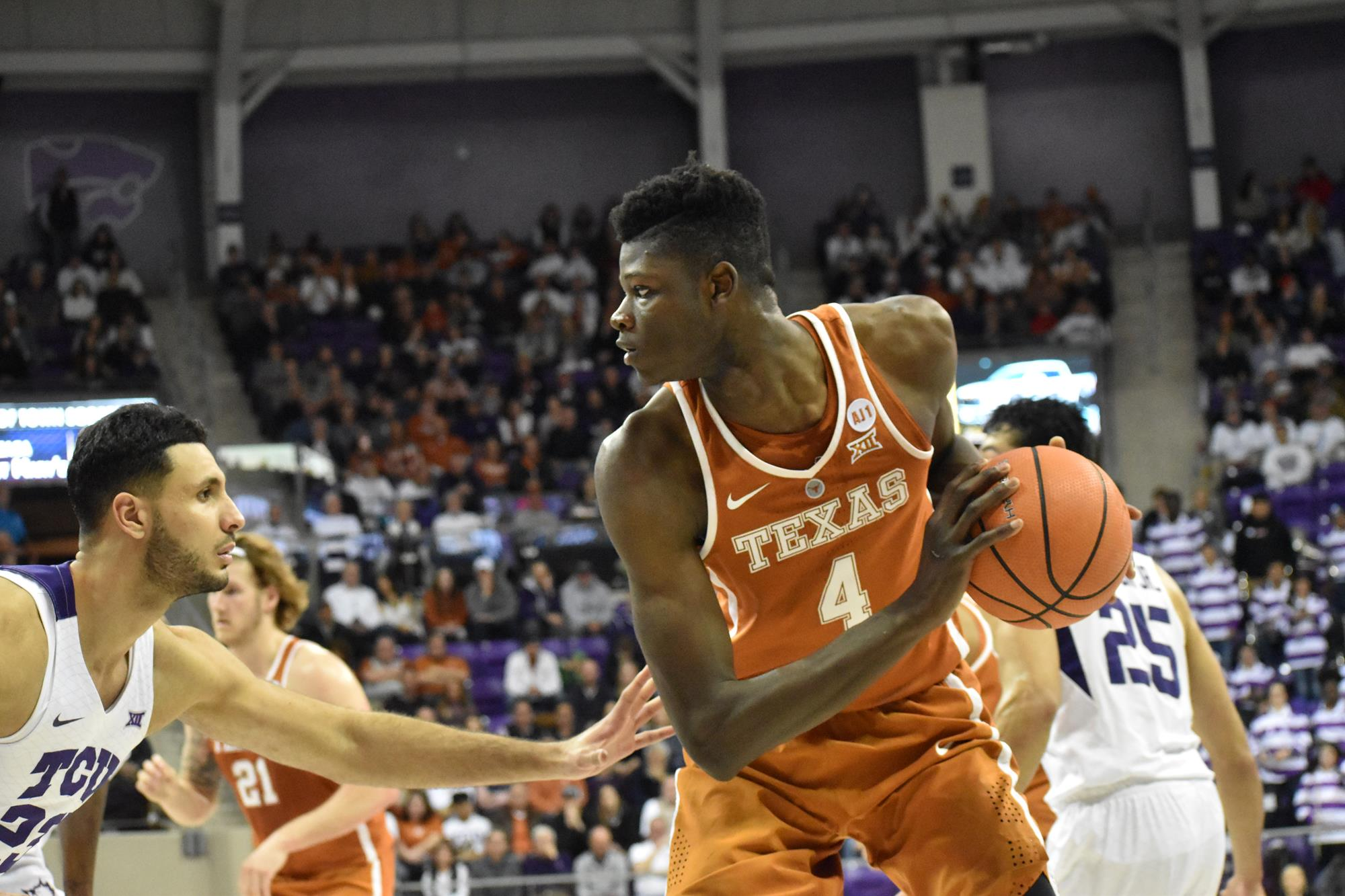 reputable site dfeaa 41be7 Men's Basketball falls at TCU, 87-71 - University of Texas ...