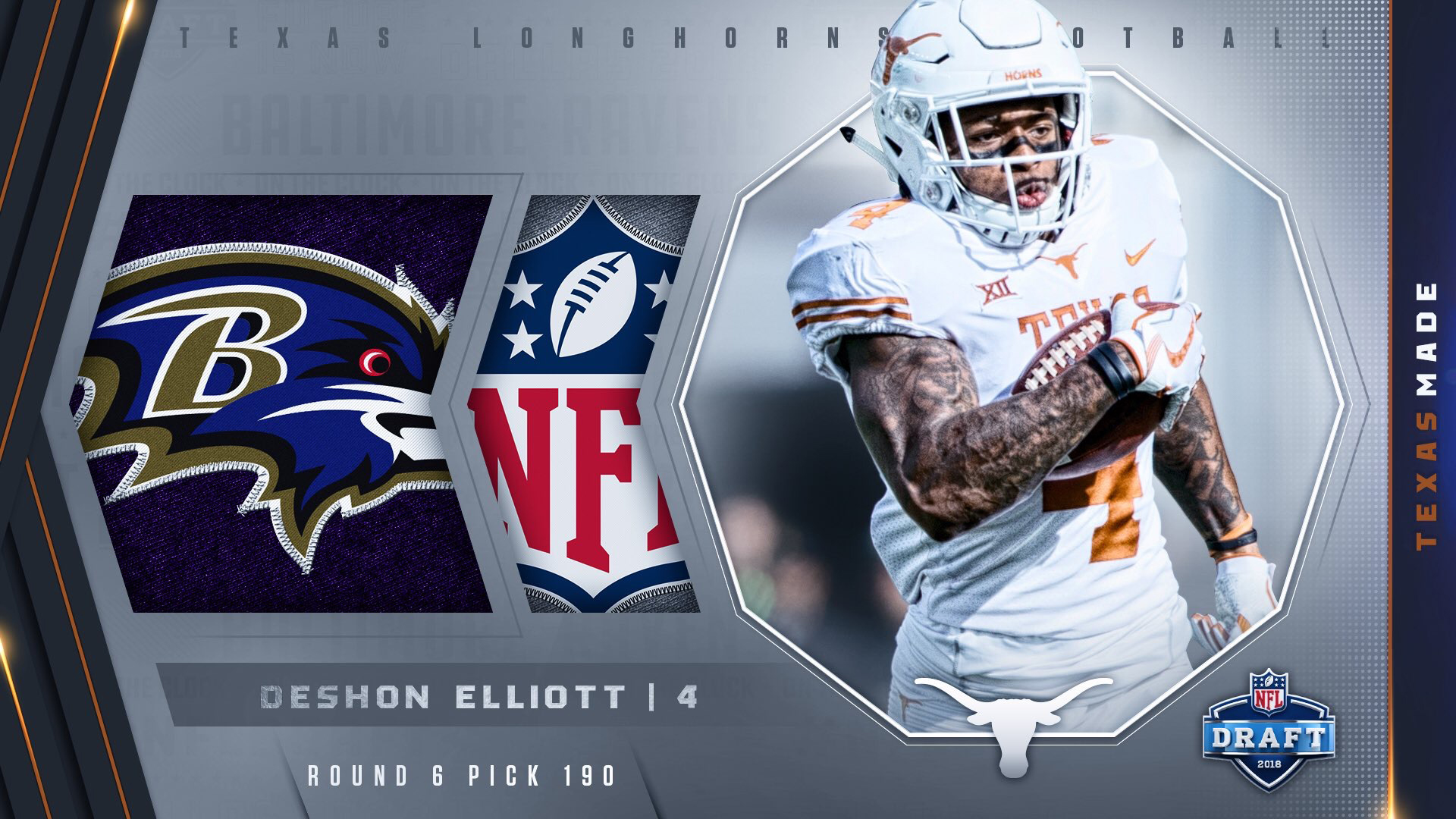 finest selection c5b6e 4d75b DeShon Elliott drafted by Baltimore Ravens - University of ...