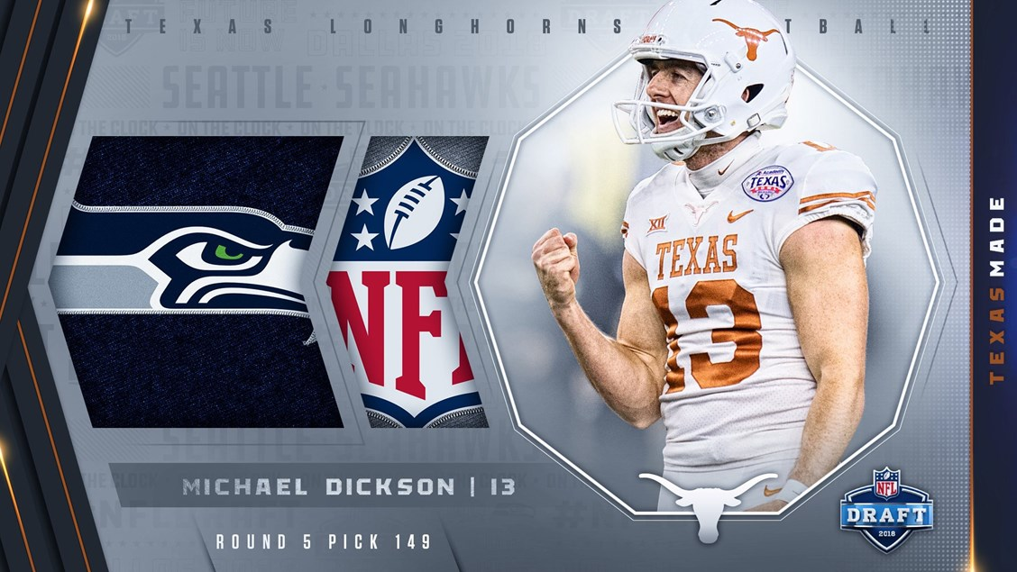 910862f95afa Michael Dickson drafted by Seattle Seahawks - University of Texas ...