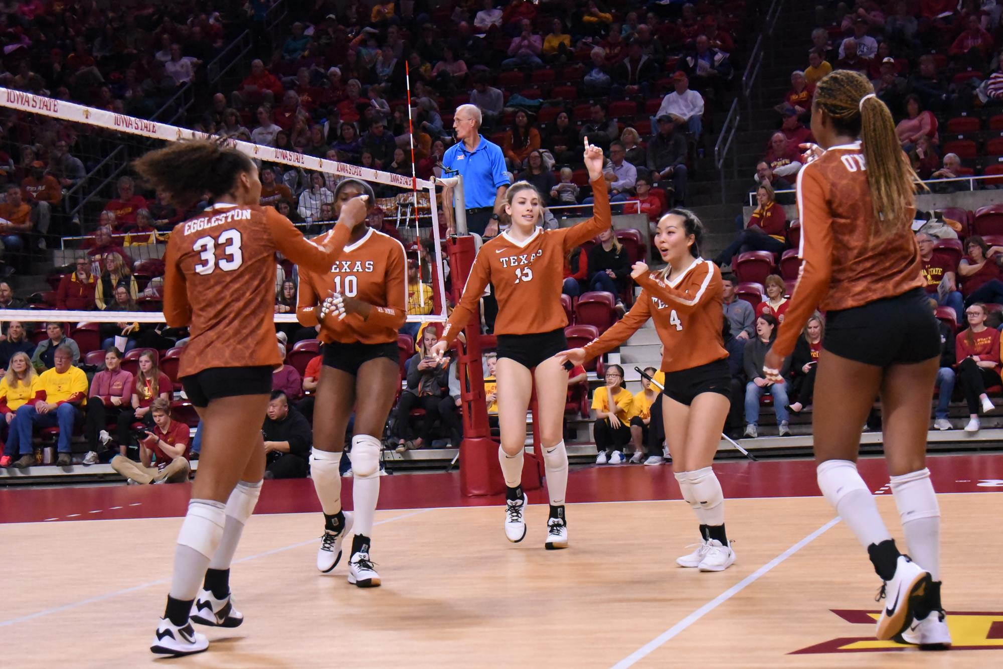 No 4 Volleyball Earns Share Of Big 12 Title University Of Texas Athletics