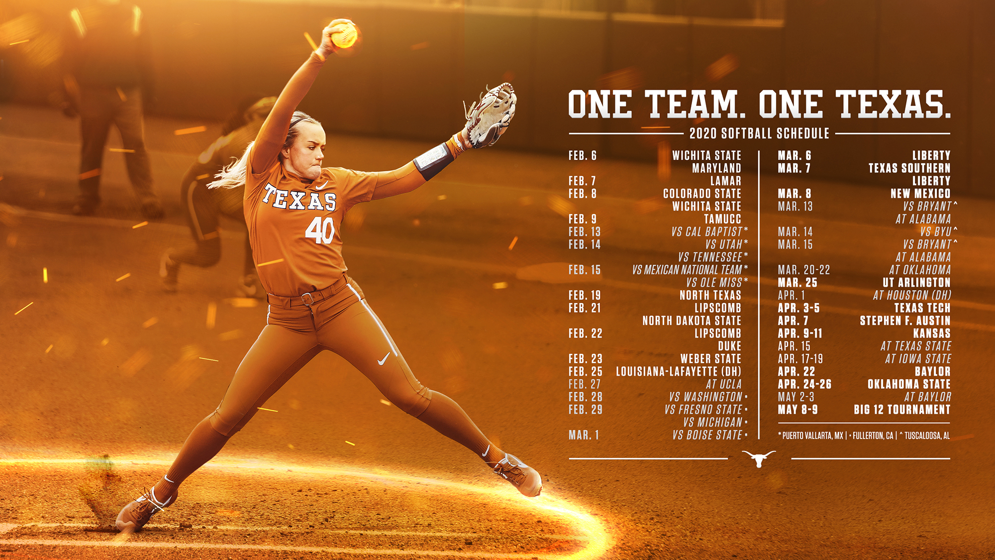 Softball Releases Challenging 2020 Spring Schedule University Of Texas Athletics