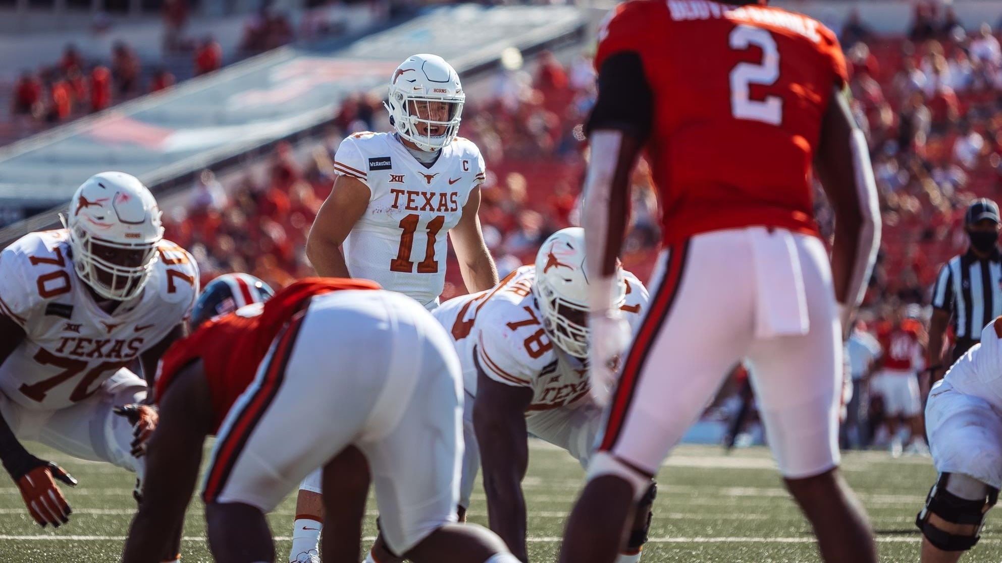 No 8 9 Football Rallies To Best Texas Tech 63 56 In Overtime University Of Texas Athletics